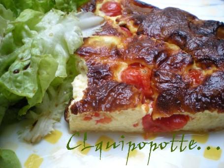clafoutis tomate cerise