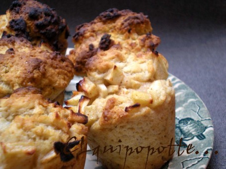muffins pomme